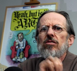 American cartoonist Robert Crumb gives a